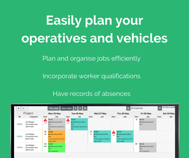 Plan your operatives and vehicles (1)