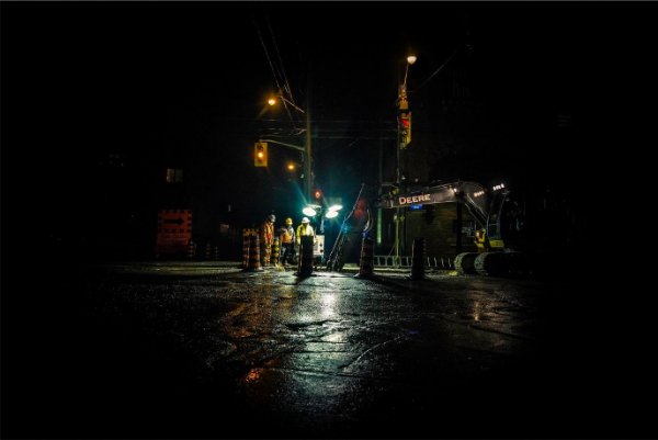 PPE for road worker safety at night