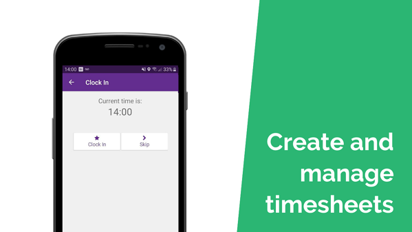 Create and manage timesheets